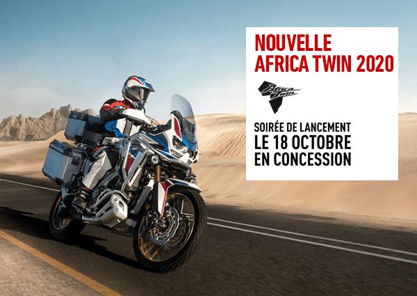 Inscrivez-vous à la soirée Africa Twin 2020