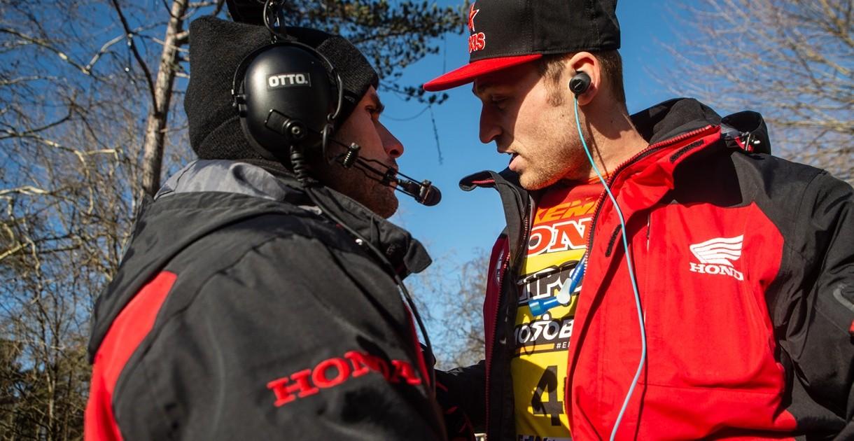 Josse Sallefranque - team manager Honda SR - avant le départ